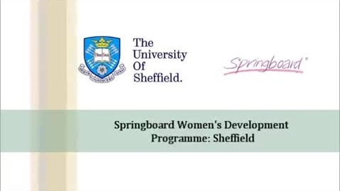 Thumbnail for entry Springboard for Women