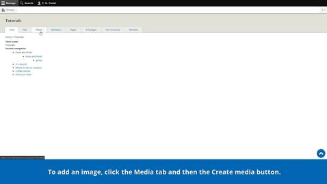 Thumbnail for entry Introduction to the CMS | The Media library | Uploading images