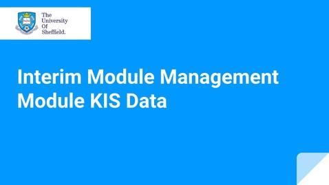 Thumbnail for entry IMM KIS Data