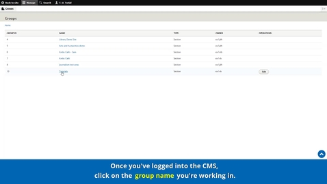 Thumbnail for entry New CMS Training   Core knowledge   Creating a Basic page