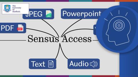 Thumbnail for entry Using Sensus Access