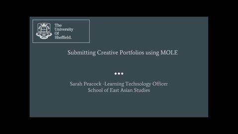 Thumbnail for entry Uploading Creative Portfolios in MOLE.mp4