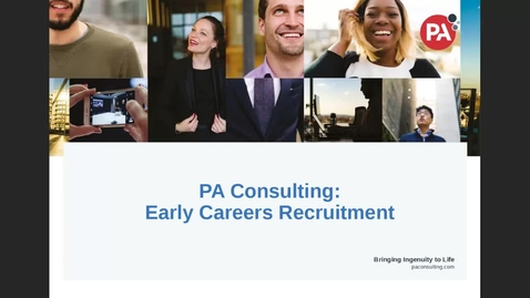 Thumbnail for entry Career Insights: Consulting (PA Consultancy)