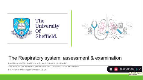 Thumbnail for entry Respiratory System assessment and examination