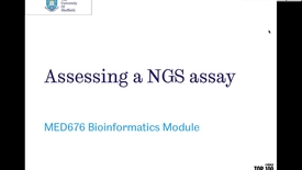 Thumbnail for entry Intro to NGS assay assessment
