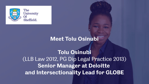 Thumbnail for entry Sheffield Insights - Tolu Osinubi