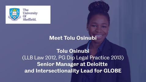 Thumbnail for entry Sheffield Insights - Tolu Osinubi