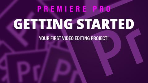 Thumbnail for entry Adobe Premiere Pro (3) Workspace Tour