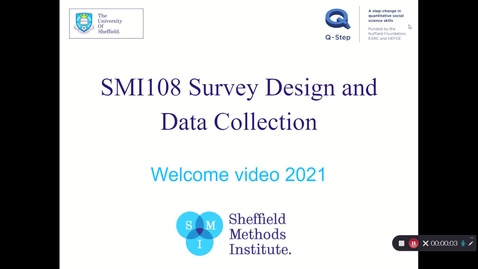 Thumbnail for entry SMI108 Welcome video 2021