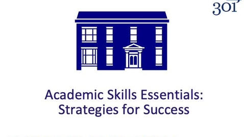 Thumbnail for entry Academic Skills Essentials for remote working v2