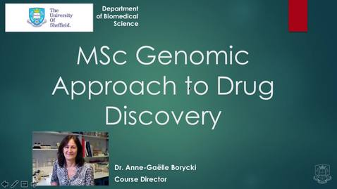 Thumbnail for entry MSc Genomic Approach to Drug Discovery