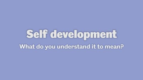 Thumbnail for entry Self development 1