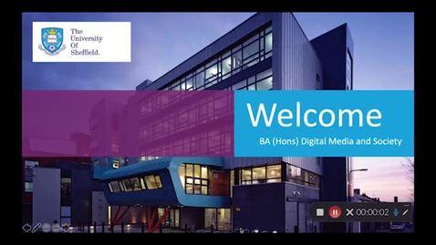 Thumbnail for entry BA Digital Media and Society Applicant Day presentation November 2020.mp4
