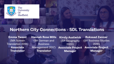 Thumbnail for entry SDL Translation - Norther City Connections 2020 Workshop 3