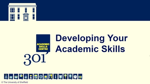 Thumbnail for entry Introduction to Academic Skills