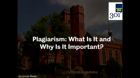 Thumbnail for entry What To Expect from My Course Part 3 - Plagiarism
