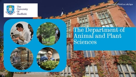 Thumbnail for entry Animal and Plant Sciences - Postgraduate Open Day 2021