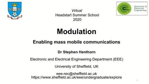 Thumbnail for entry Modulation mini lecture