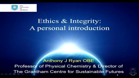 Thumbnail for entry Research Professionalism & Integrity introduction lecture 2018