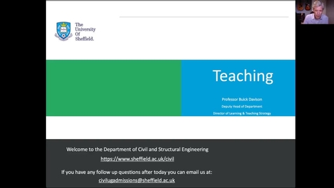 Thumbnail for entry Civil & Structural Engineering - Learning and Teaching philosophy