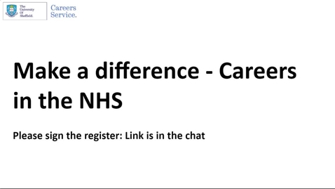 Thumbnail for entry Career Insights: NHS