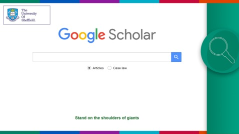 Thumbnail for entry Using Google Scholar