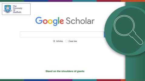 Thumbnail for entry Using Google Scholar