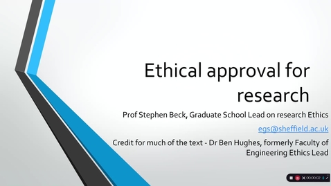 Thumbnail for entry 3 Ethical approval for research