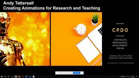 Thumbnail for entry Creating videos and animations for Research and Teaching