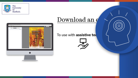 Thumbnail for entry Ebooks and assistive technology