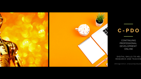 Thumbnail for entry C-PDO #7 Continuing Professional Development Online - Kaltura Capture