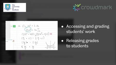 Thumbnail for entry Crowdmark: marking work and releasing grades