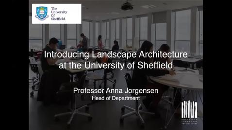 Thumbnail for entry Landscape Architecture Webinar