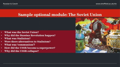 Thumbnail for entry Russian and Slavonic Studies Open Day Presentation