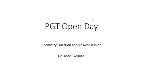 Thumbnail for entry Chemistry - Postgraduate Open Day 2021
