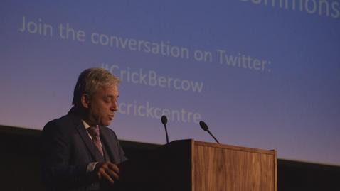 Thumbnail for entry Rt Hon John Bercow, Speaker of the House of Commons
