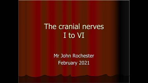 Thumbnail for entry Cranial nerves I to VI