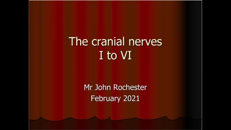 Thumbnail for entry Cranial nerves I to VI