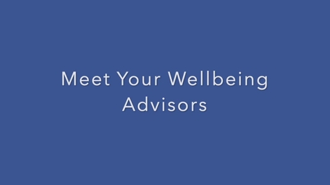 Thumbnail for entry Wellbeing Intro Week Video