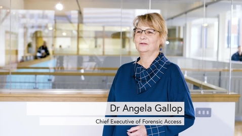 Thumbnail for entry Dr Angela Gallop interview: Forensic Science