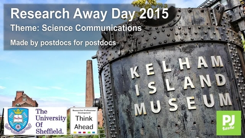 Thumbnail for entry Researcher Away Day 2015
