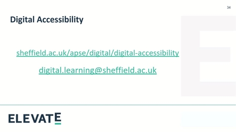 Thumbnail for entry Introduction to Digital Accessibility (7th September 2020)