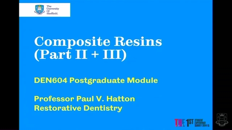 Thumbnail for entry Composite Resins 2 - Quiz