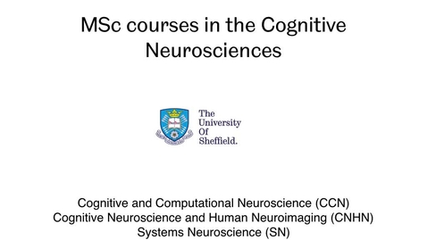 Thumbnail for entry MSc courses in the Cognitive Neurosciences