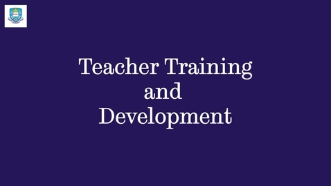 Thumbnail for entry Teacher Training and Development - English Language Teaching Centre