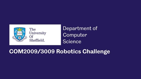 Thumbnail for entry Computer Science - Robotics Assignment