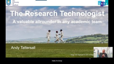 Thumbnail for entry The research technologist - A valuable allrounder in any academic team - UKSG 2020 Conference Presentation