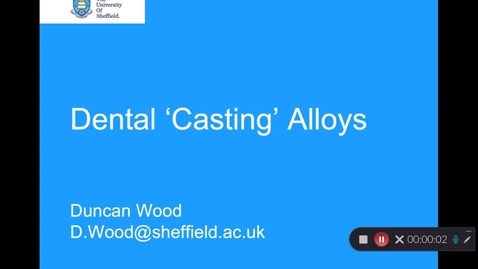 Thumbnail for entry Dental Casting Alloys - Quiz