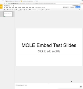 embed google slides in mole mole my online learning environment