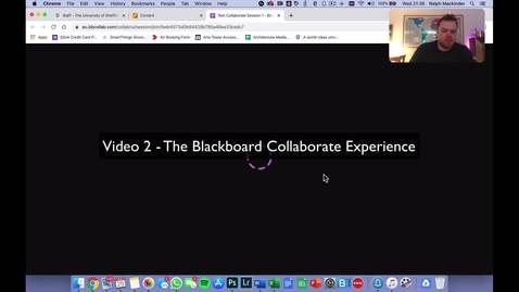 Thumbnail for entry Blackboard Collaborate Guide 2 - The Collaborate Experience